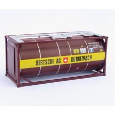 HO Bertschi AG Durrenasch 20ft tank Brown
