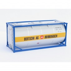 HO Bertschi AG Durrenasch 20ft tank Blue frame