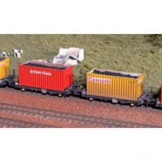N Gauge Coal Container kit x 10 - No28